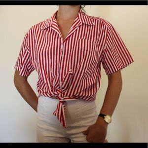 RED&WHITE Button up!!